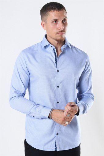 Viggo Dobby Skjorte Cashmere Blue