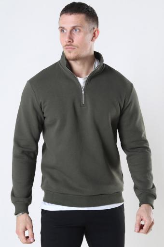 Ceres Life Half Zip Sweat Olive Night
