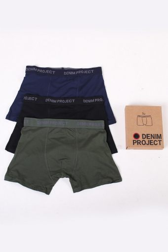 3 Pack Boxershors Green/Blue/Black