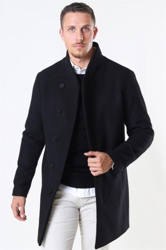 Jack & Jones Collum Wool Coat Black