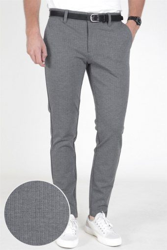 Mark Pants Stripe Medium Grey Melange