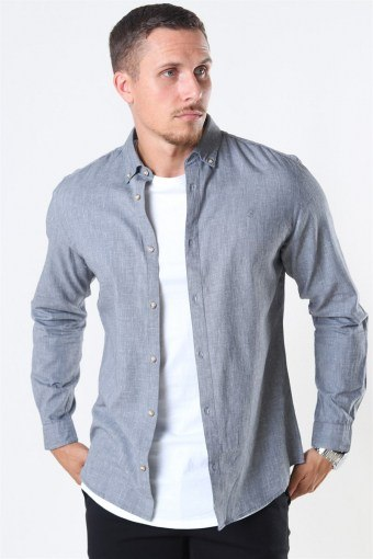 Jack & Jones Blalogo Autumn Skjorte L/S Grey Melange