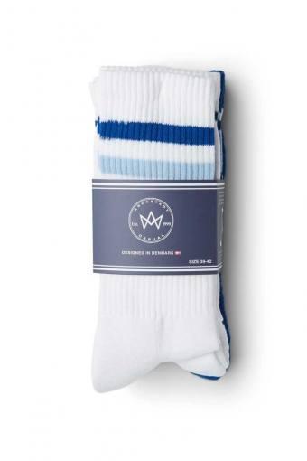 Nad 4-pack socks White/Cobalt/Light Blue