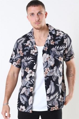 Tailored & Originals Pasha S/S Skjorte Dark Grey