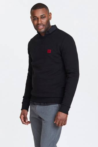 Black/Red Piece Sweatshirt