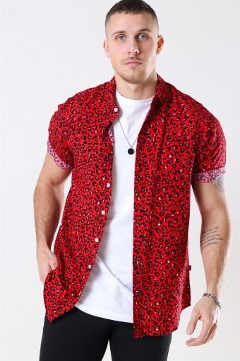 Grande S/S Skjorte Red Leo