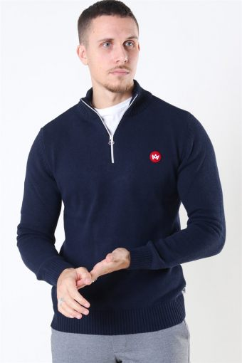 Liam Half Zip Recycle Strik Navy