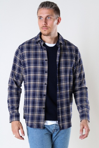 Sälen Flannel 5 L/S Brown Check