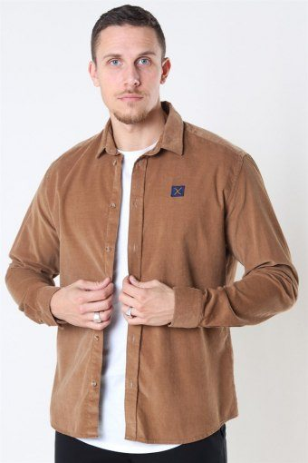 Clean Cut Corduroy Shirt LS Khaki