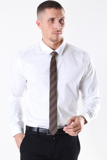 Alfredo LS stretch Shirt White