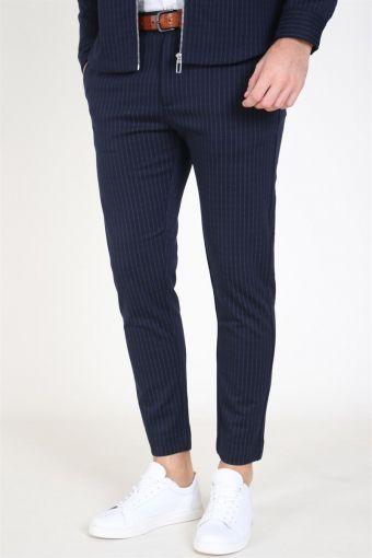 Milano Pinstripe Pants Navy