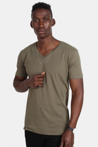 TB1559 Basic V-Neck T-shirt Olive