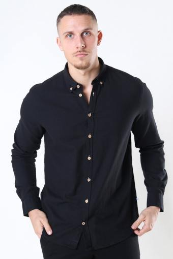 Johan Diego Cotton Skjorte Black