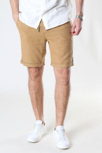 SDTruc Shorts Linen Dull Gold
