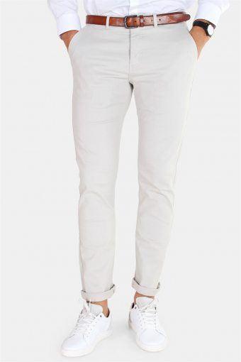 Daniel Stretch Chino Bukser Light Grey