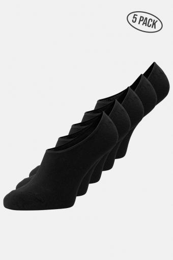 Jack & Jones Basic Multi Invisible Strømper 5-Pack Black