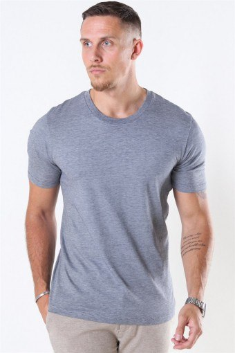 The Perfect Mel SS O-Neck Tee Sky Captain/Bright White