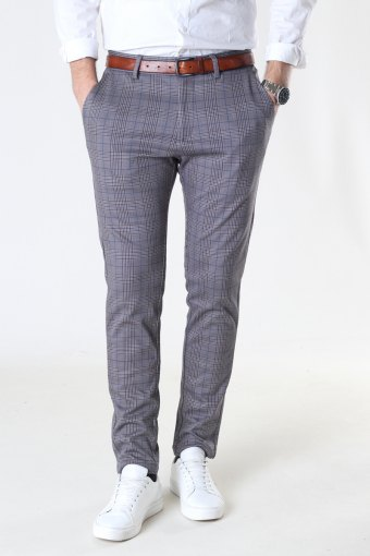 Milano Henry Stretch Pants Brown Check