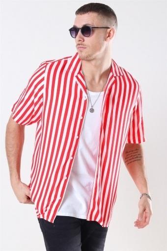 El S/S Cuba Skjorte Red/White