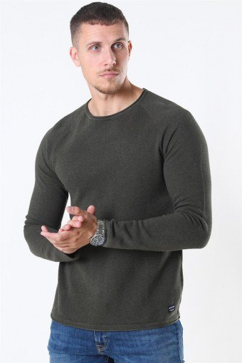 Jack & Jones Hill Crew Neck Strik Olive Night
