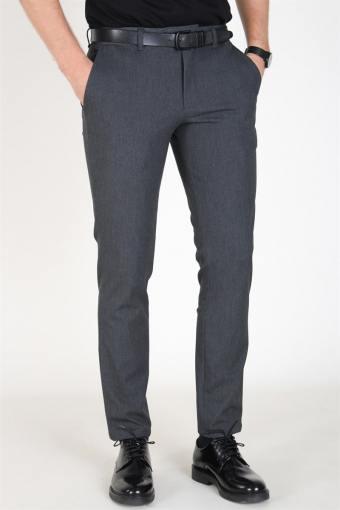 Slim-Carlo Flex Pants Grey Melange