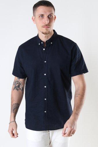 Cotton / Linnen Shirt S/S Navy