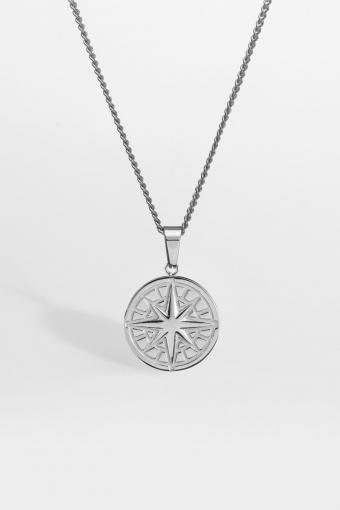 """Compass Halskæde 2.0 """"Silver"""""""