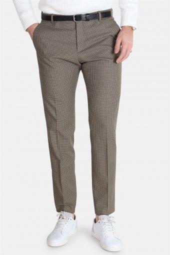 Slim-Riclogan Check Pants Sand