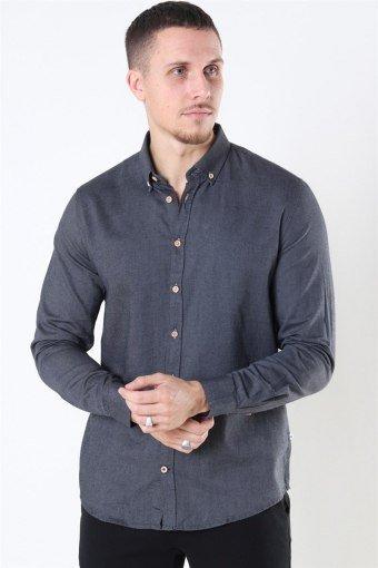 Johan Diego Cotton Skjorte Dark Grey