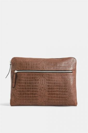 Dundee Sleeve 13'' Brown Croco