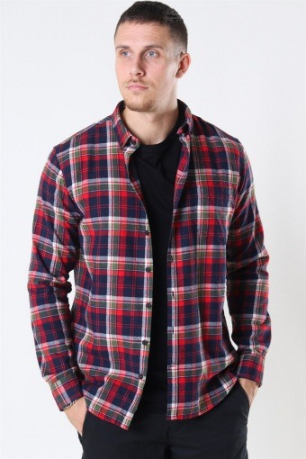 Johan Pocket Flannel Check Chili Pepper