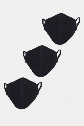Stretch Mundbind 3-pack Black