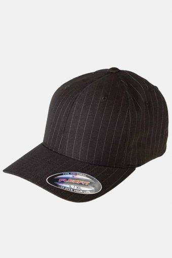 Pinstripe Cap Black