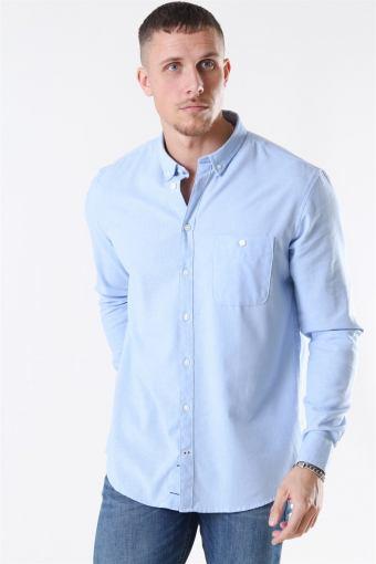 Johan Linen Skjorte Light Blue