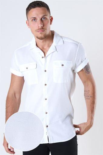 Andrew Waffle Skjorte S/S White
