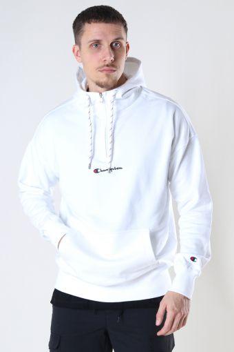 Half Zip Hooded Sweatshirt WHT