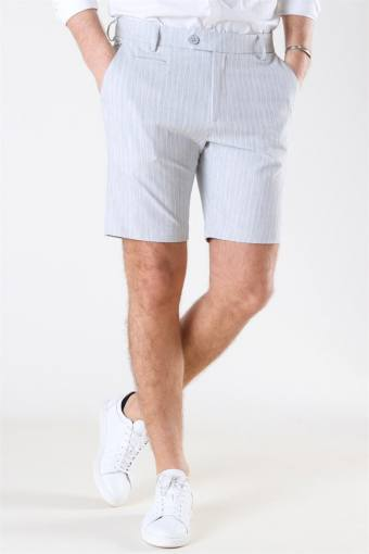 Como Light Pinstripe Shorts Grey Melange/Off White