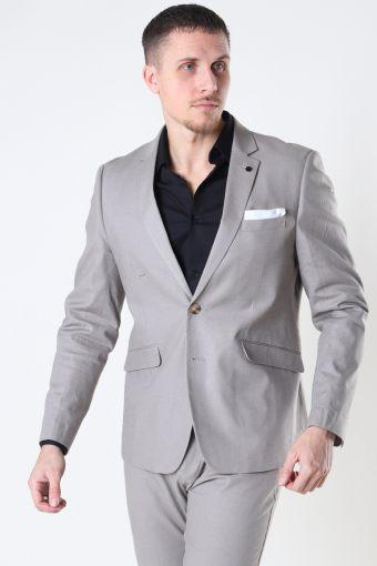 Copenhagen Cotton Linen Blazer Grey