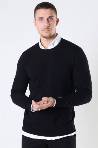 Mos Mosh Adam Supima O-Neck Knit Black