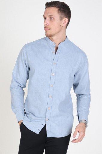 Dean Henley Skjorte Light Blue