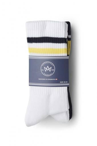 Nad 4-pack socks White/Navy/Yellow