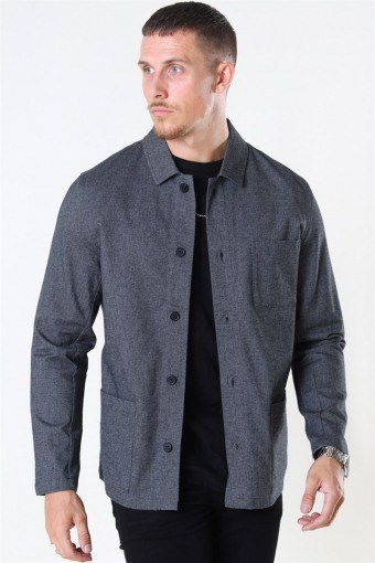 Lake Structure Shirt LS Dark Grey
