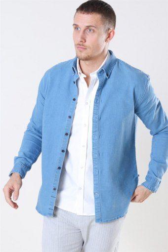 Johan Denim Skjorte Light Blue