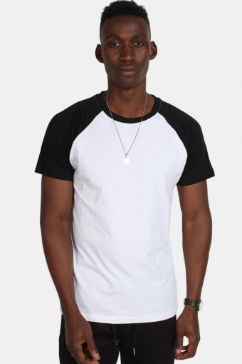 Raglan Contrast Tee White/Black