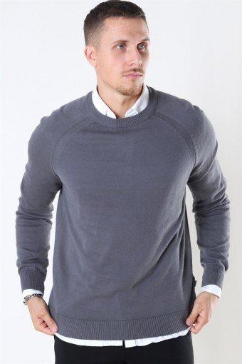 Luno O-neck Strik Grey Melange