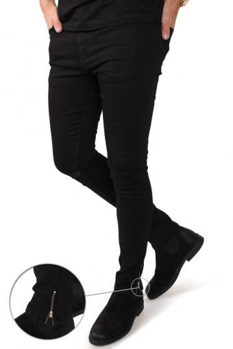 Chris  Zip Jeans Black