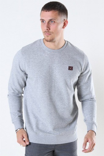 Basic Organic Crewneck Light Grey Melange