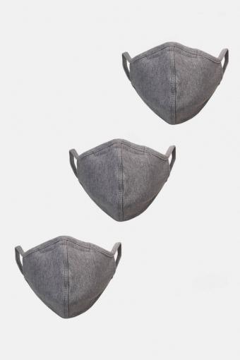 3-Pack Mundbind Oxford Grey