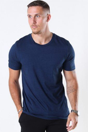 The Perfect Mel SS O Neck Tee Estate Blue Stripes