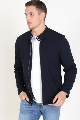 Des Zip Sweat Dark Navy